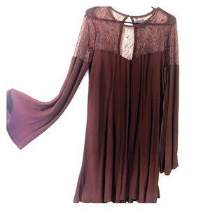 Kendall + Kylie Burgundy Dress
